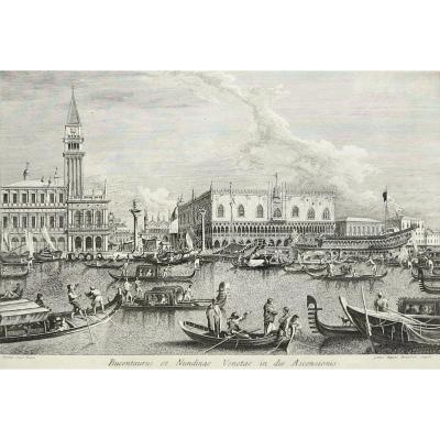 Brustoloni, Canaletto, Venice, Etching