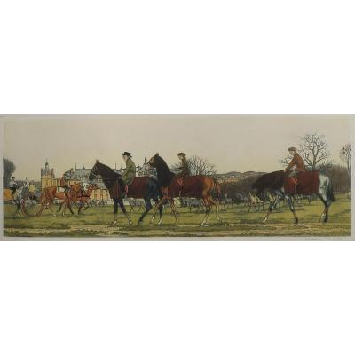 Taquoy Training Chantilly, Aquatint, 1912
