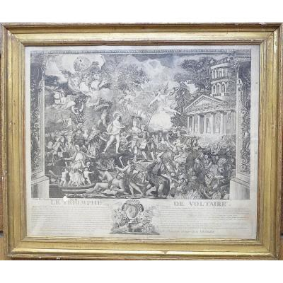 Duplessis, The Triumph Of Voltaire, Etching, 1786