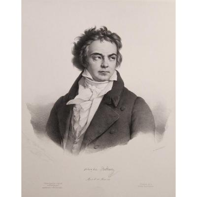 Grevedon,  Beethoven, Lithographie 1841