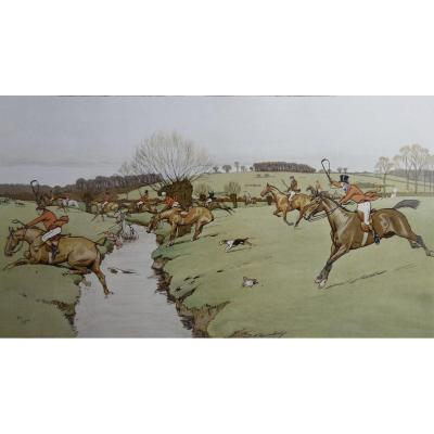 Cecil Aldin, The Cottesbrook Hunt, Lithographie, 1914