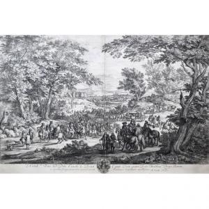 Adriaen Frans Bauduins (c.1644-1711), Nobill.mo D. Dno. Carolo Le Brun Equiti (...), Eau-forte