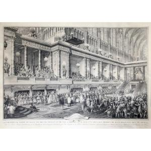 Jean-michel Moreau, The Younger, Decoration Of The Coronation Of Louis XVI, June 11, 1775, Etching