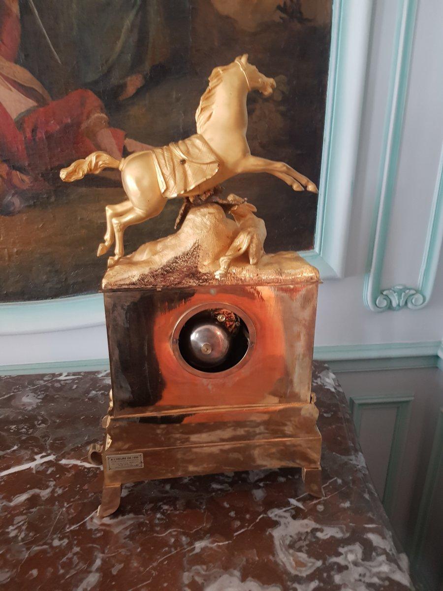 Gilt Bronze Clock, Restoration Period, Around 1830-photo-1