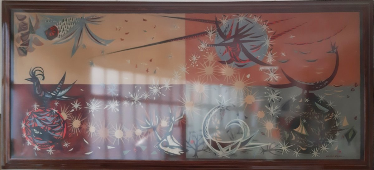 Andre Minaux - Les Signes Astrologiques - Grand Format - 122 X 254cm