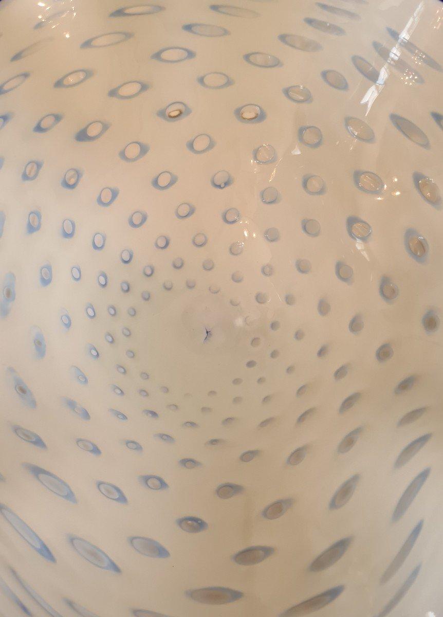 Importante Coupe Murano En Verre Souffle , Seconde Moitié XXème, haut 85cm-photo-2