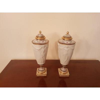 Pair Of Biscuit Vases, Sèvres Around 1925,