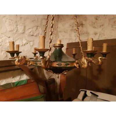 Lustre De Style Empire De La Fin Du XIXème Siècle.
