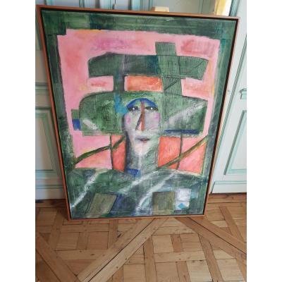 Mixed Media On Canvas, Norman Laliberte (1925 -...)