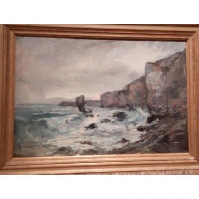 Paysage Breton De La Côte D'emeraude  – Emile Noirot  – 1893