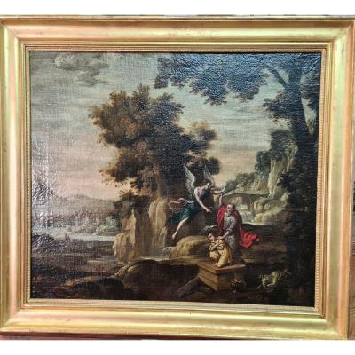 Ecole Flamande Du XVIIème, Entourage De Lodewyck De Vadder, Le Sacrifice D'isaac.