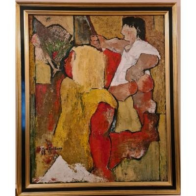 Michel De Gallard (1921-2007), 100 X 81 Cm,