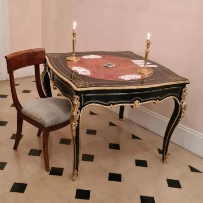 Table De Salon Ou Table à  Jeux En Ebène,  époque Napoléon III.