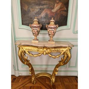 Capodimonte, Paire De Vases Couverts En Porcelaine Polychrome , 2ème Moitié XIXème