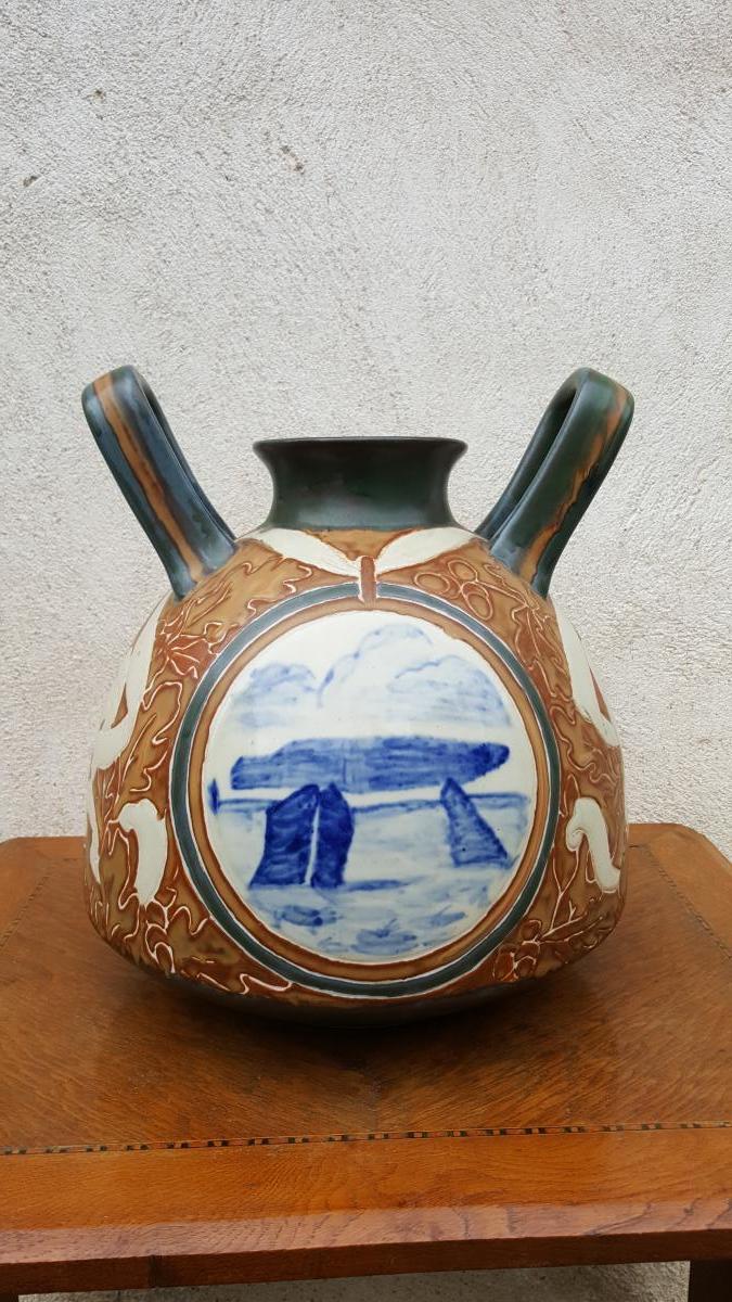 Céramique  Odetta Alphonse Chanteau  HB Quimper Bretagne
