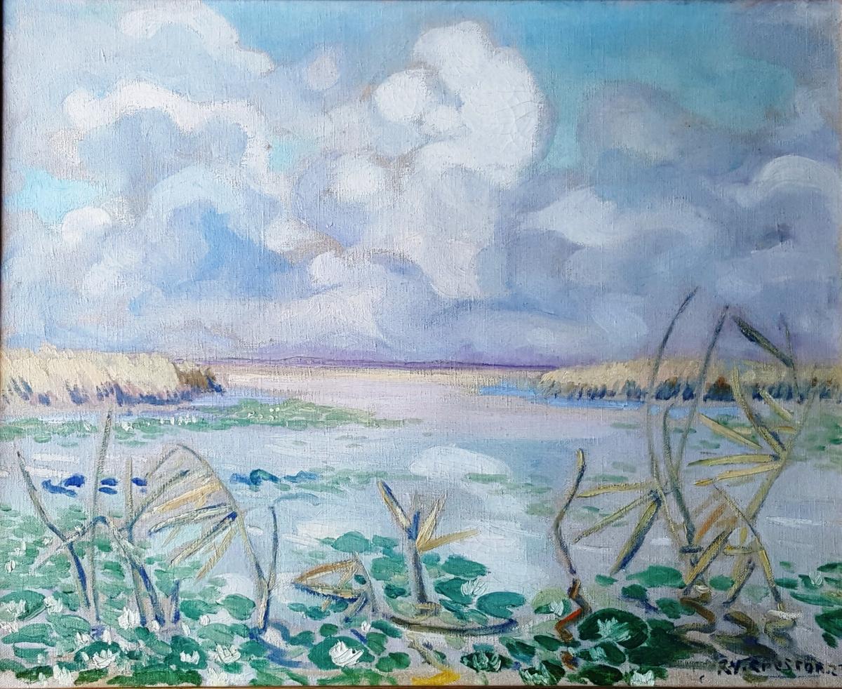 René Yves Creston Oil Dated 1923