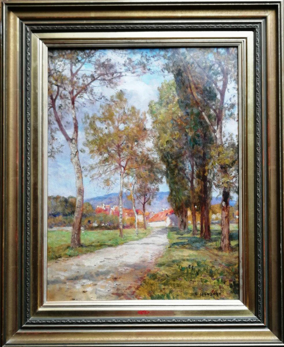 Emile Isenbart Oil On Paper Mounted On Canvas