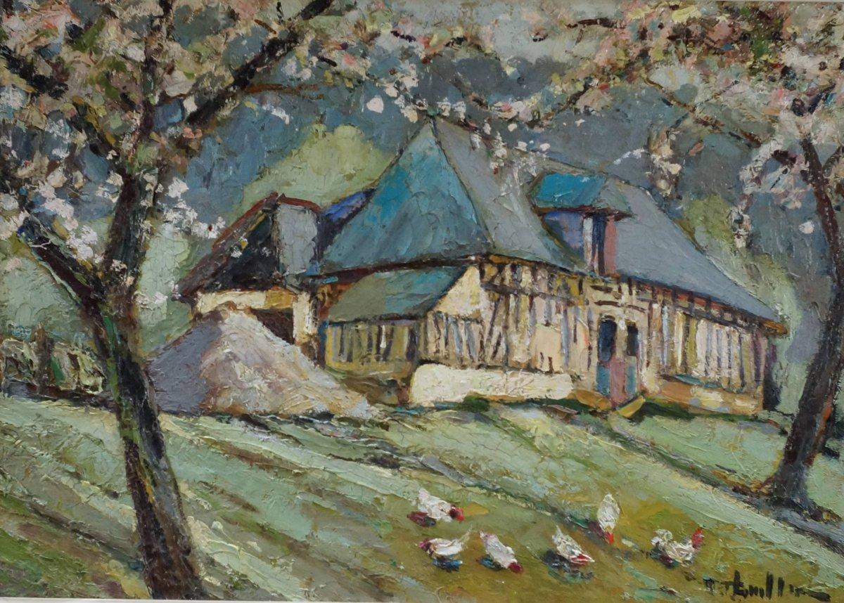 """Roger THUILLIER  """"Maison de campagne en Normandie"""""""