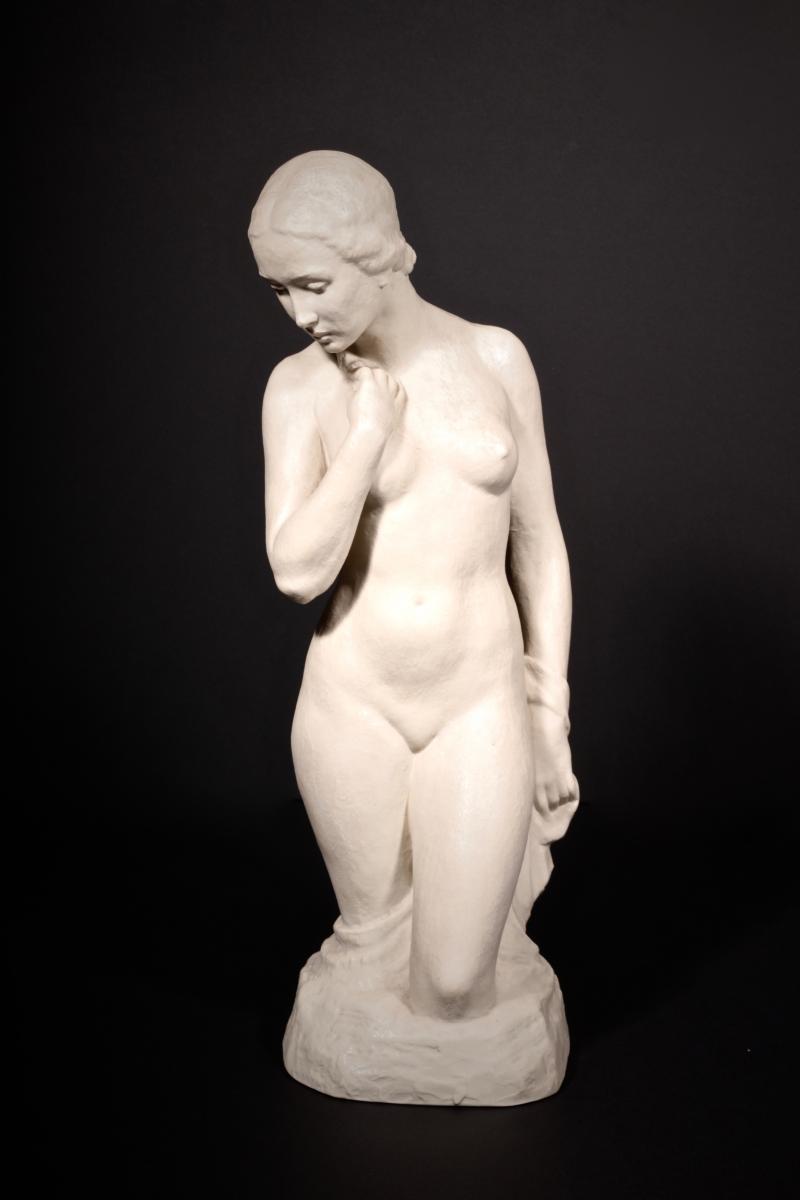 Rosenthal, Rudolph Kaesbach, Sculpture, Porcelaine,femme Nue, Circa 1935,41 Cm