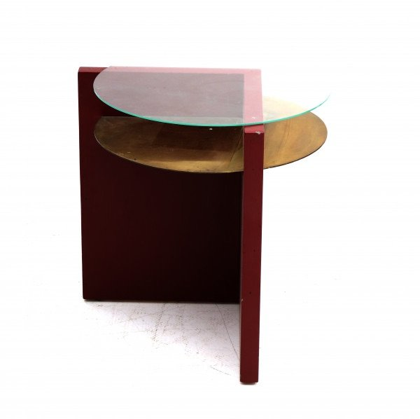 Table D'appoint  Moderniste De L'artiste Mathieu  Ficheroux  ((1926-2003)