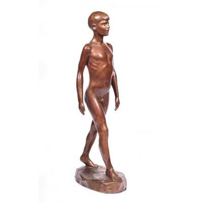 Sculpture Bronze Garçon  Circa 1930, 48cm