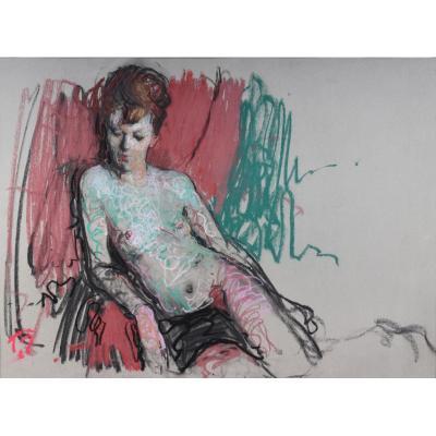 """Dario Treves (1907-1978), """"irma"""", Pastel, Vers 1960"""