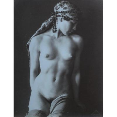 Frantisek Drtikol (1883-1961), Tirage Argentique d'époque, Femme Au Turban, Circa 1925