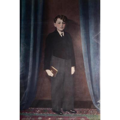 Grand Dessin Aux Pastels-signé-daté 1936