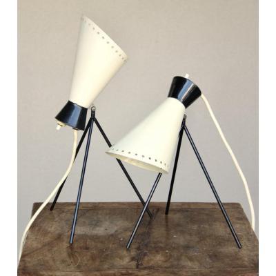 Paire De Lampes De Chevets De Josef Hurka, 1960's