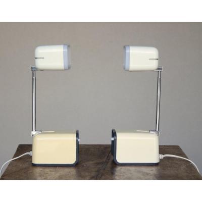 """Paire de lampes de chevet, """" Kreo-Lite, Hiscope"""", Japon 1970'"""