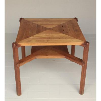 Constructivist Spirit Table With Anchoring Apparent In Beech And Poplar Around 1920