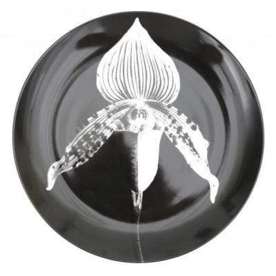 Assiette En Porcelaine, Transfert Photo De Robert Mapplethorpe, Pour Swid Powell, Orchid,1987