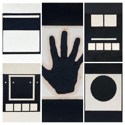 Suite De 5 Acryliques Sur Toile, Signés, Datés, 1990 ,provenance : collection Otto Schapp