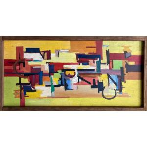 Luis Beggiora Di Beggio (1933-1989) Oil On Panel Circa 1954.