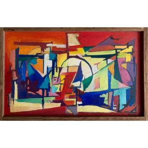 Louis Beggiora Di Beggio (1933-1989), Oil On Panel, 1954, Signed