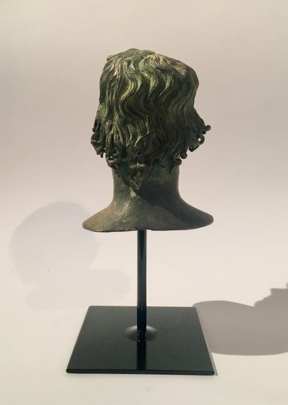 Buste en bronze italien de Mellephebe d'après l'antique, Réalisé Au XIXème Siècle.-photo-1