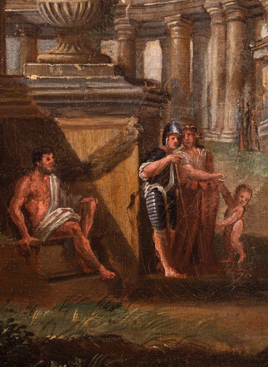 Paysage De Ruines, Atelier De Giovanni Panini, Huille Sur Toile, XVIIIème Siècle.-photo-1