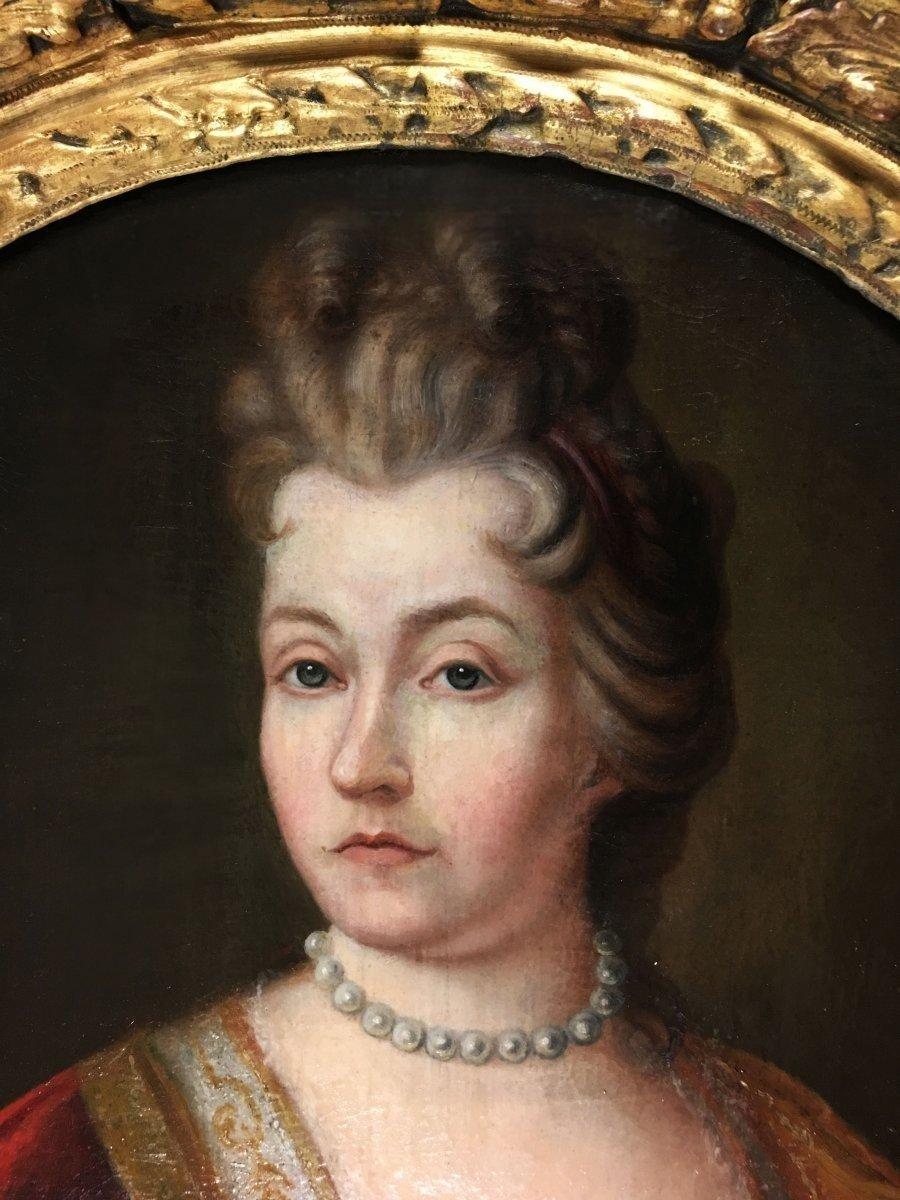 Portrait d'une Dame de qualité d'époque Louis XIV.-photo-2
