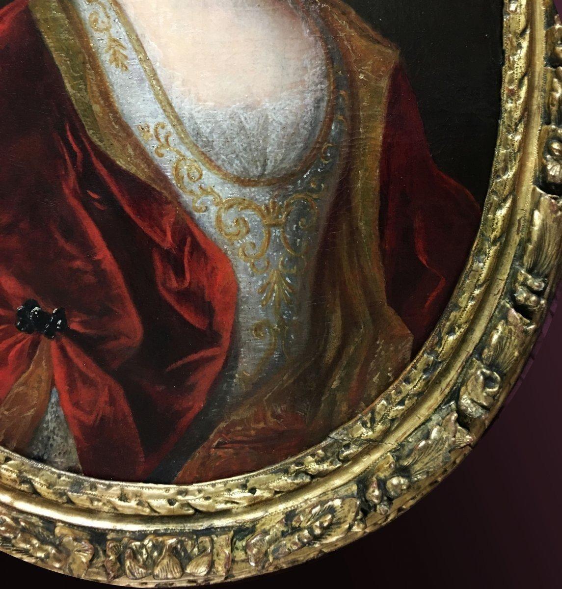 Portrait d'une Dame de qualité d'époque Louis XIV.-photo-3