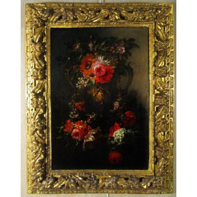 """""""bouquet De Fleurs"""" Attribué à Andréa Scacciati (1642-1710)"""