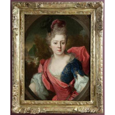 Portrait Of Helene Lambert De Thorigny, Workshop Of Nicolas De Largillierre.