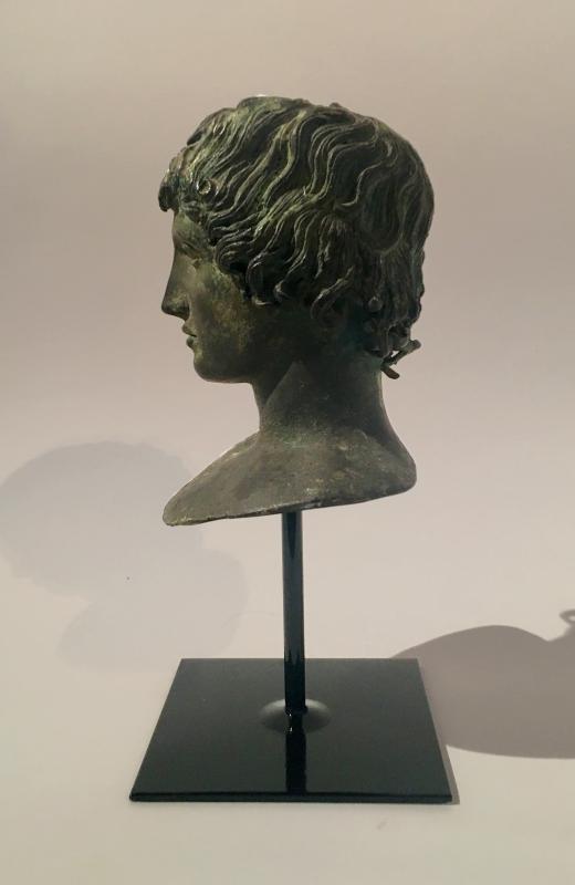 Buste en bronze italien de Mellephebe d'après l'antique, Réalisé Au XIXème Siècle.-photo-3