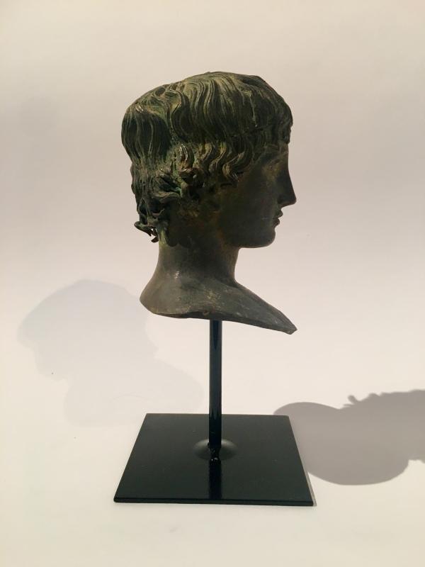Buste en bronze italien de Mellephebe d'après l'antique, Réalisé Au XIXème Siècle.-photo-4
