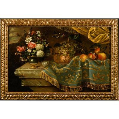 Nature Morte au Chardonnet, attribuée à Reynaud Levieux, XVIIème siècle.