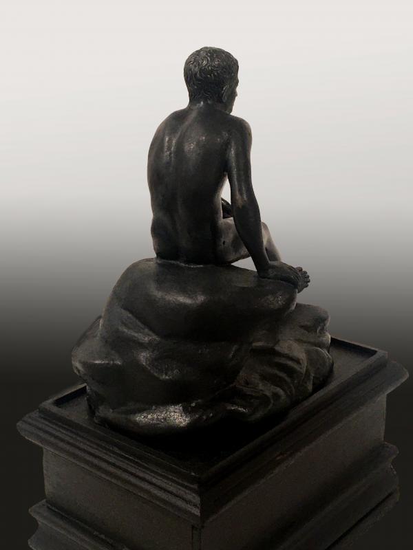 Mercure au repos, bronze , XIXe  siècle, travail probablement italien. -photo-3
