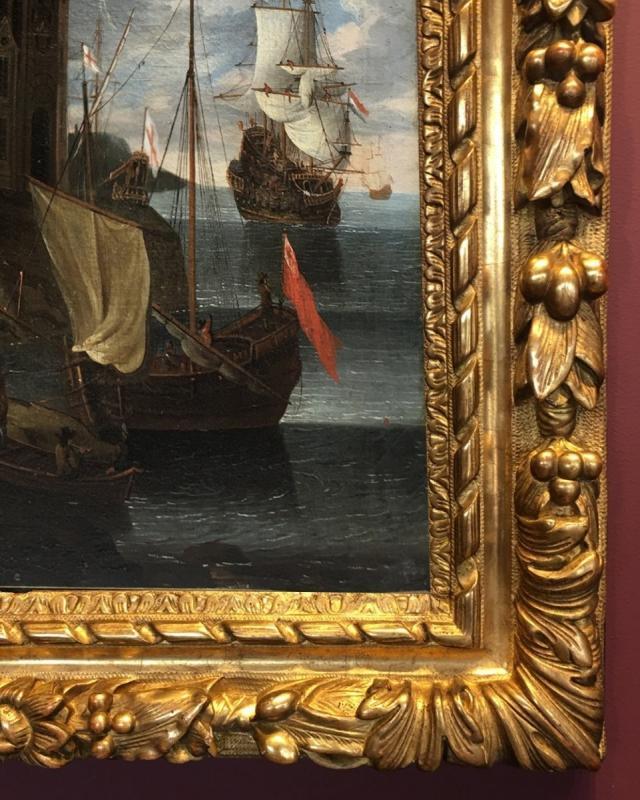 Scène de Port, entourage de Jacob Storck, XVIIème siècle.-photo-3