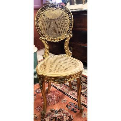 Paire De Petites Chaises De Style Louis XVI