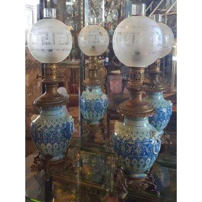 Paire De Lampes Théodore Deck (1823/1900)