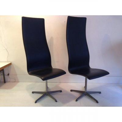 Pair Of Chairs Arne Jacobsen 1973
