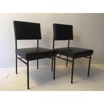 Pair Of Philippon And Lecoq Chairs 1955